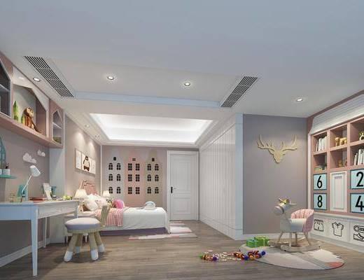兒童房, 臥室, 床具組合, 裝飾柜組合, 桌椅組合, 玩具組合, 北歐
