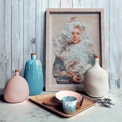 陶瓷, 挂画, 装饰画, 摆件, 陶瓷碗, 花瓶