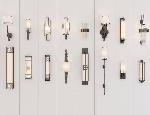 新中式壁灯, 壁灯组合