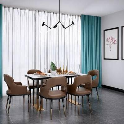 现代餐桌椅, 北欧餐桌椅, 现代吊灯, 北欧吊灯, 现代挂画, 北欧挂画, 现代, 北欧, 餐桌椅, 桌子, 椅子, 吊灯