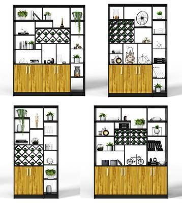 酒柜, 酒驾, 装饰柜, 隔断柜, 摆件, 现代