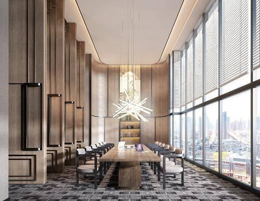 会议室, 新中式会议室, 桌椅组合