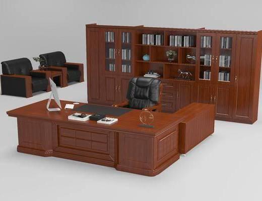 桌椅, 文件柜, 办公桌