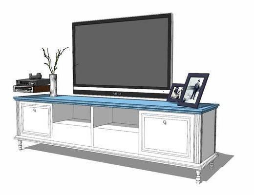电视柜, 柜架组合, 电视, 摆件组合