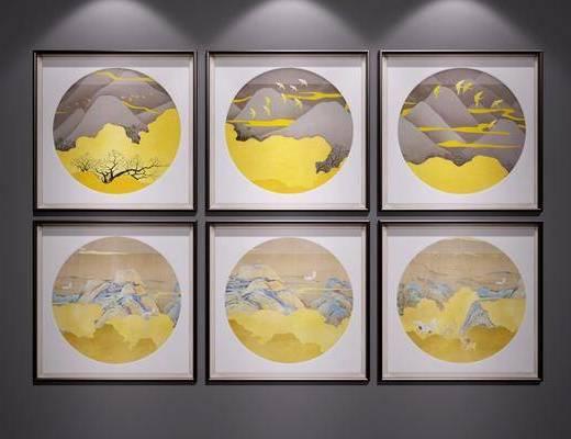 装饰画, 新中式挂画, 新中式, 挂画, 风景画