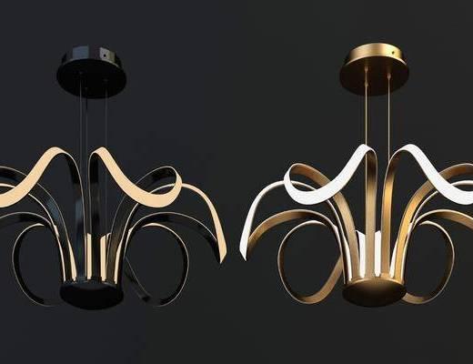 吊灯, 吸顶灯, 现代