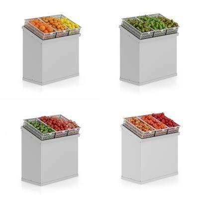 超市货架, 水果, 现代
