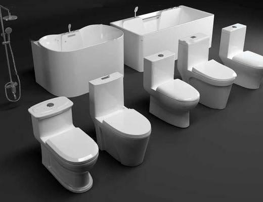 馬桶, 浴缸, 花灑組合, 衛浴