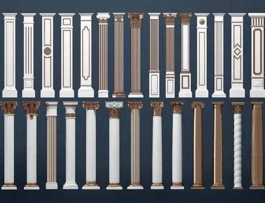 柱子, 罗马柱, 欧式罗马柱, 金属, 欧式