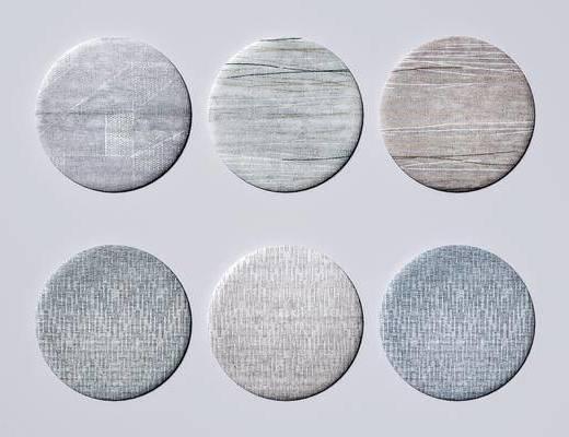 圆形地毯, 布艺地毯