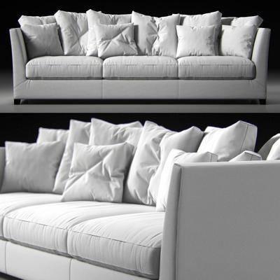 多人沙发, 现代, 布艺沙发