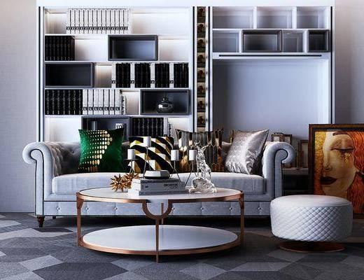 简欧沙发, 沙发组合, 沙发茶几组合