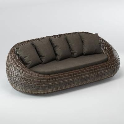 多人沙发, 编藤沙发, 现代