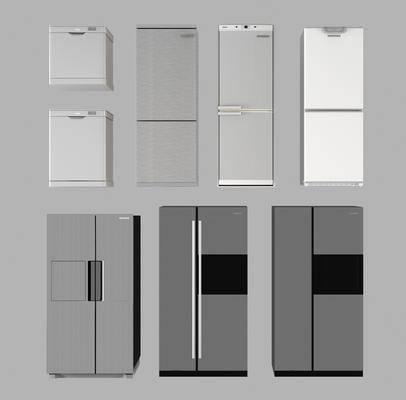 现代冰柜, 冰箱组合, 双门冰箱