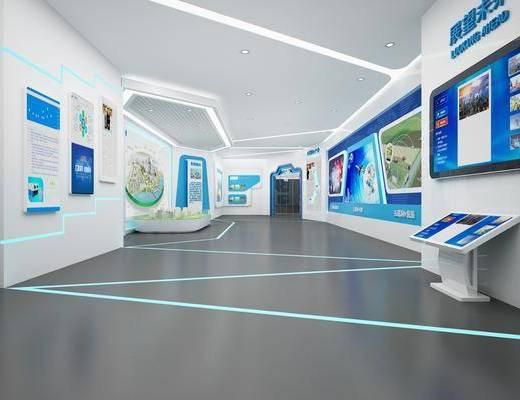 科技展厅, 展览展厅, 装饰画, 挂画, 墙饰, 现代
