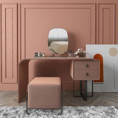 梳妆台, 摆件组合, 桌椅组合