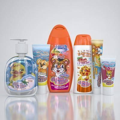 沐浴露, 洗面奶, 牙膏, 现代