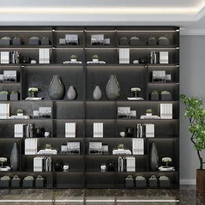 置物柜, 装饰柜, 书柜, 摆件, 摆设, 装饰品, 陈设品, 现代