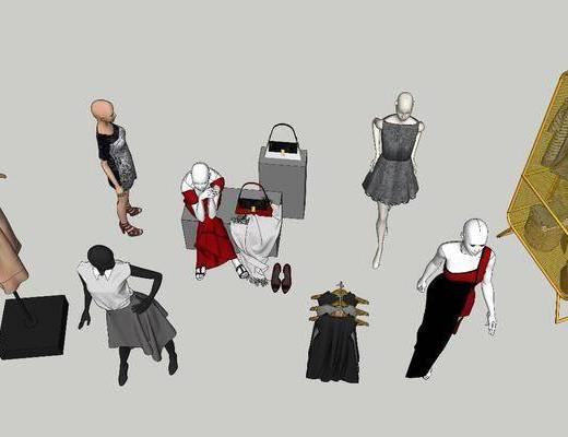 服饰, 模特, 衣柜, 衣架