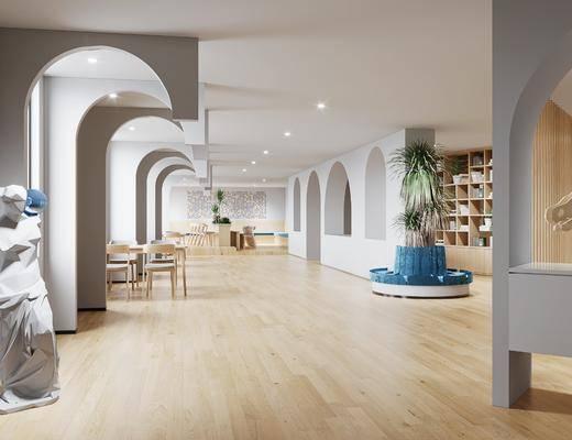 现代图书馆, 工装
