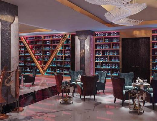 现代, 酒吧, 桌椅组合