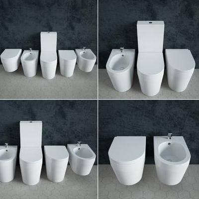 马桶, 洗手盆, 现代