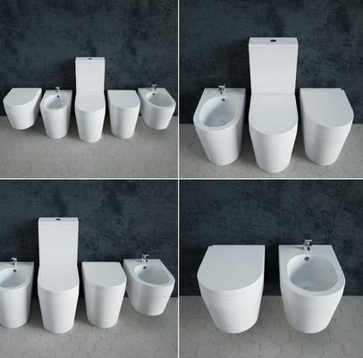 馬桶, 洗手盆, 現代