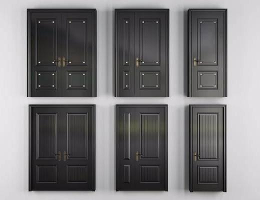 烤漆房门, 单开门, 双开门, 子母门, 现代