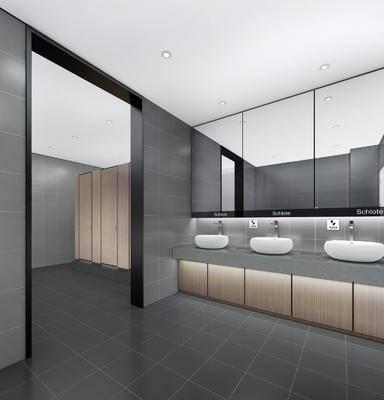衛生間, 洗手臺組合, 裝飾鏡組合, 洗衣機, 小便池, 現代