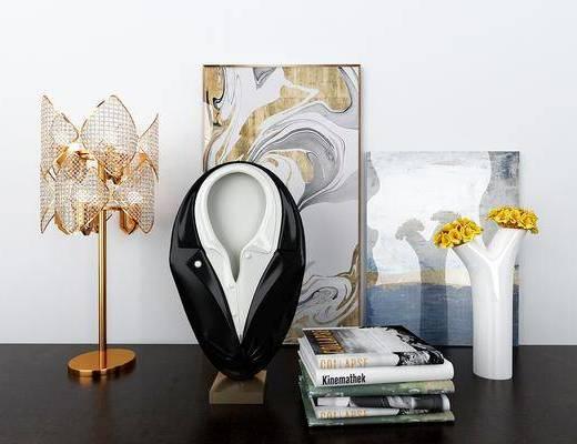 西服陶瓷, 摆件组合, 台灯, 装饰画, 挂画, 装饰品, 陈设品, 现代
