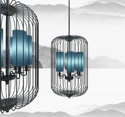 新中式, 吊灯