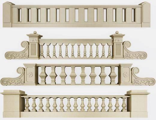 栏杆护栏, 石材, 欧式