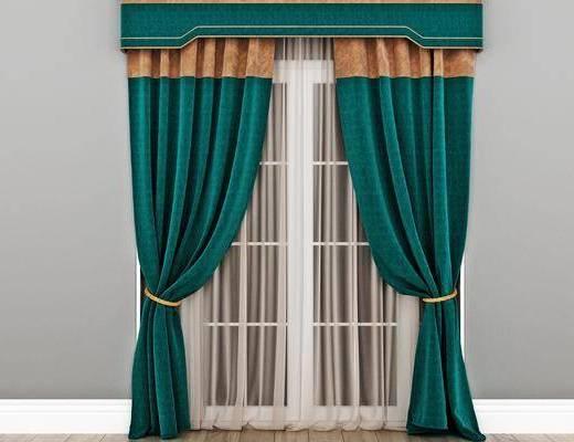 美式窗帘, 窗帘
