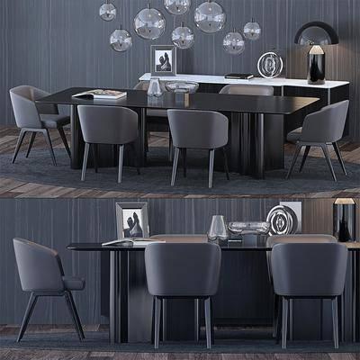 餐桌, 桌椅组合, 摆件组合