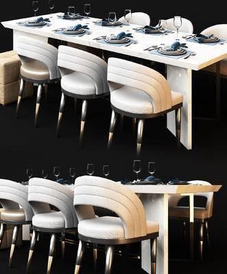 现代, 餐桌椅, 餐具