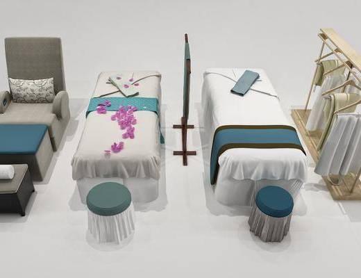 按摩床, 單人床, 凳子, 服飾, 現代