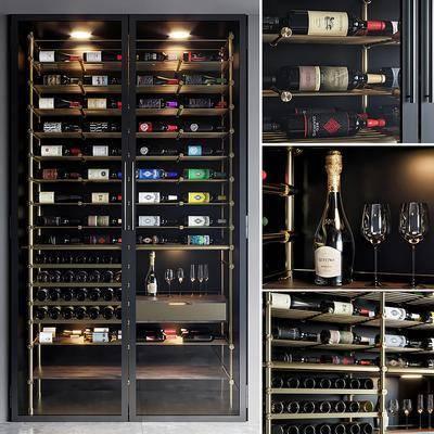 现代恒温红酒柜
