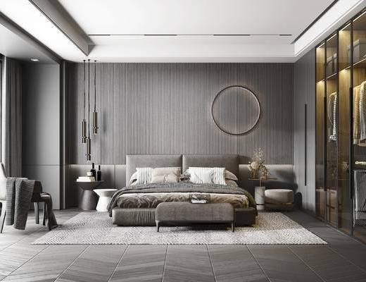 现代高级灰卧室