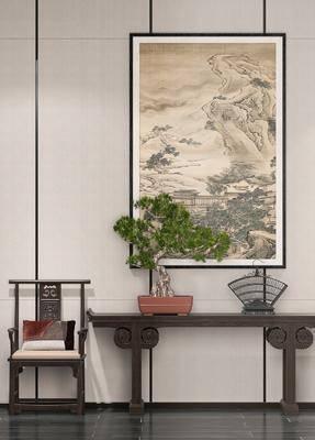 新中式端景台, 单椅