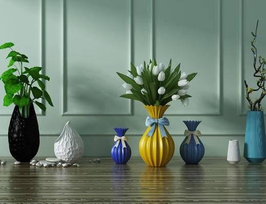 摆件, 花, 花瓶摆件, 饰品摆件, 现代, 花瓶, 花卉
