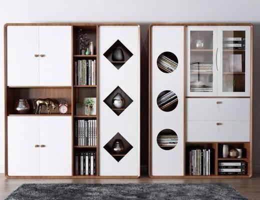 书柜, 柜架组合, 书籍