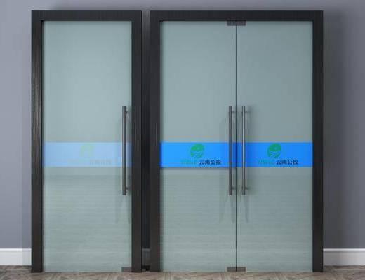 玻璃门, 双开门, 门组合, 现代