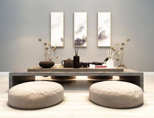 茶几, 厨具, 摆件, 装饰画, 日式