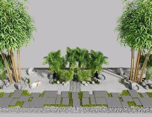 竹子, 园林, 新中式
