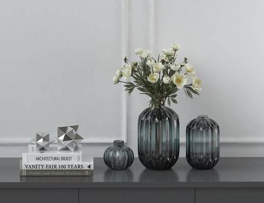 花瓶花艺, 饰品摆件, 现代