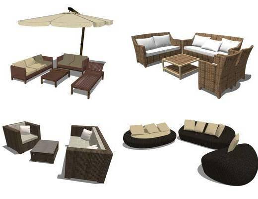藤椅沙发, 遮阳沙发, 沙发座椅