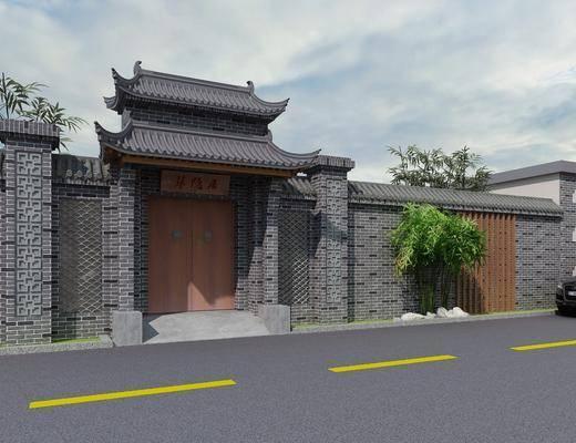门面, 门头, 新中式古建门面门头, 古建