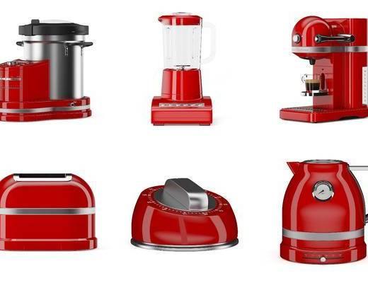 榨汁机, 面包机, 咖啡机