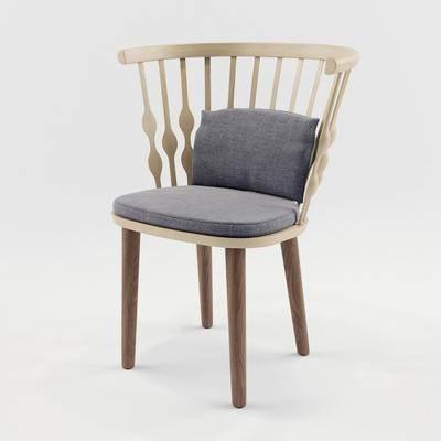休闲椅, 椅子, 单椅, 现代, 北欧