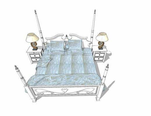 双人床, 床头柜, 床具组合